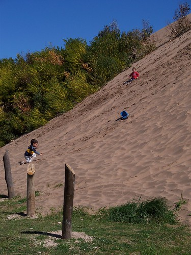 Kids Playing on the Dunes, Costa Bonita, Argentina