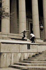 Vin Perso - Back lip (Francis Zuber) Tags: new york city nyc house court lens back nikon downtown chinatown skateboarding skating drop skate skateboard lip courthouse d300 backlip