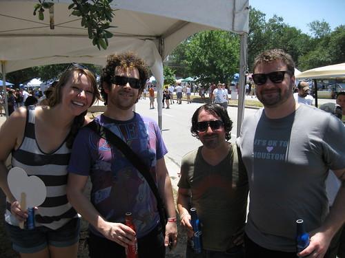 Anne Bradshaw, Aaron Echegaray, Marcus(?), & Jeoaf Johnson