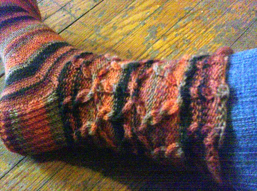Tilting Cable Socks, close up