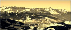 Megve (Jerry ) Tags: mountain snow ski france alps sepia montagne alpes french vacances neige oldie massif megeve crte contamines montjoie