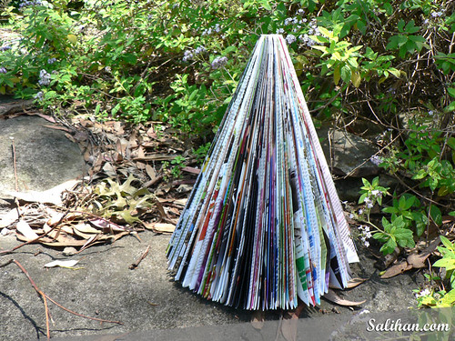 Recycled Magazine Christmas Tree