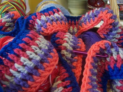 vintage-style crochet