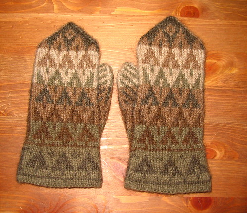 Trees Mitten Kit - back