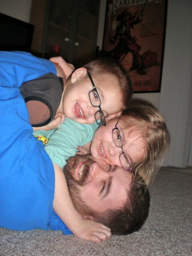 Dogpile on Daddy!