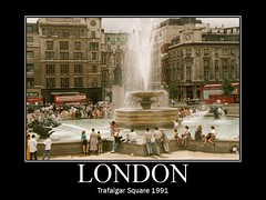 Trafalgar Square London 1991 (AndyTFS.) Tags: london square trafalgar