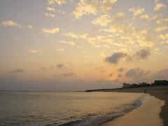 望安的夕陽與沙灘