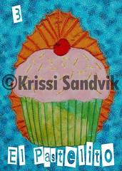 El Pastelito (The Cupcake) Loteria by Krissi Sandvik