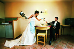 morning, dear (negeen) Tags: wedding france kitchen coffee groom bride crossprocess february 2009 parham yasmine