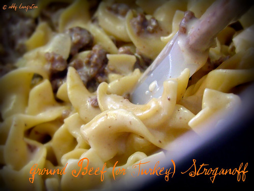 Ground Beef (or Turkey) Stroganoff