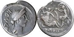 480/1 #9649-30 L.AEMILIVS BVCA Julius Caesar Venus Dream of Sulla -or- Selene and Endymion Denarius