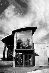 MAC Front (Jibby!) Tags: blackandwhite bw clouds washington mac spokane swirly addition brownes museumofartsculture