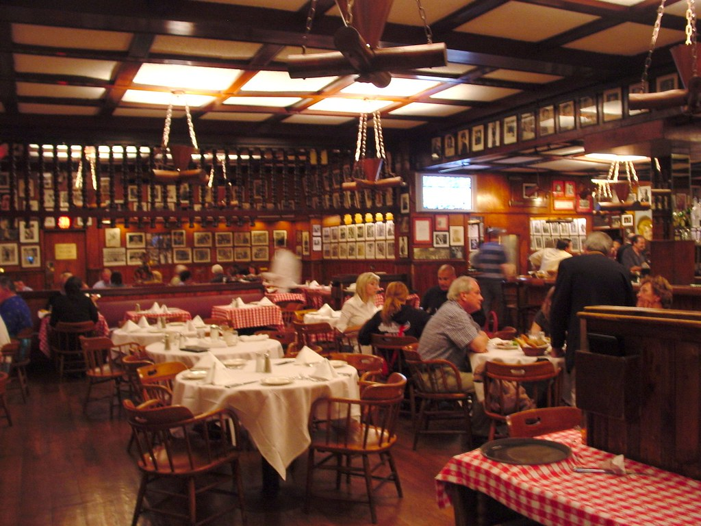 NYC - inside Gallagher's Steakhouse