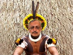 """GALHOFA"" (drfernando_ortiz) Tags: humor indigenas aldeia ndio fotomontagem kuikuro galhofa altoxingu parquenacionaldoxingu"
