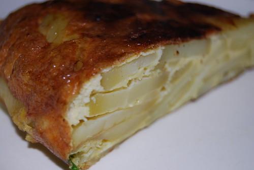 tortilla en kabeljauw