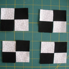 Sew four 4-patches