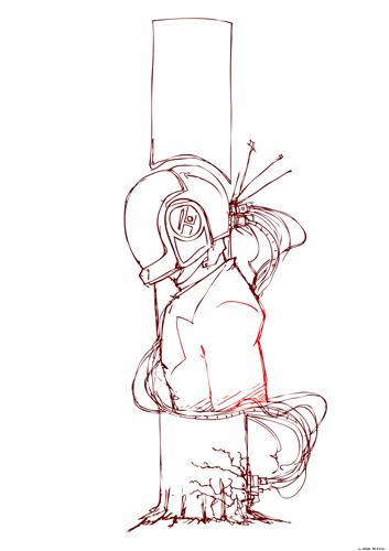 daft punk sketch