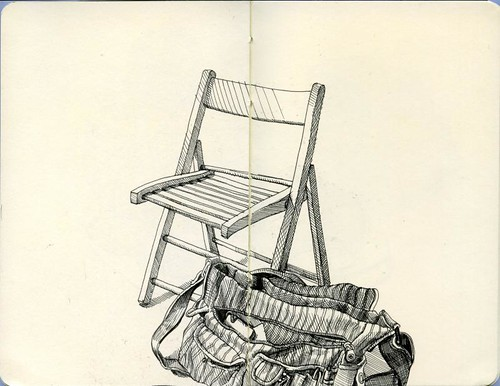 chair and bag