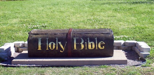 Holy Bible sculpture