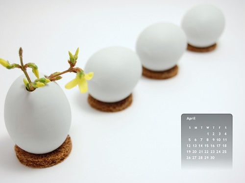 April Wallpaper Calendar
