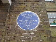 Photo of John Beard and William Ewart blue plaque