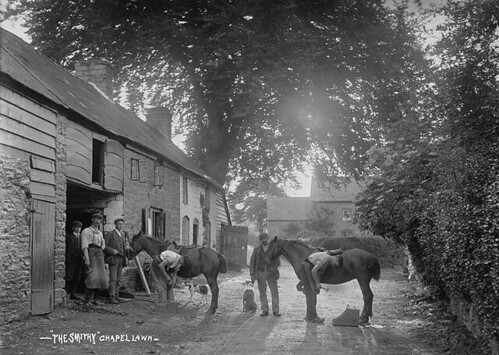 The Smithy, Chapel Lawn. Photo from The National Library of Wales on Flickr