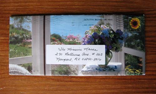 Calendar page envelope