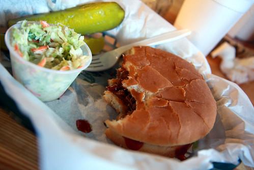 Mr. Pigs Brisket Sandwich