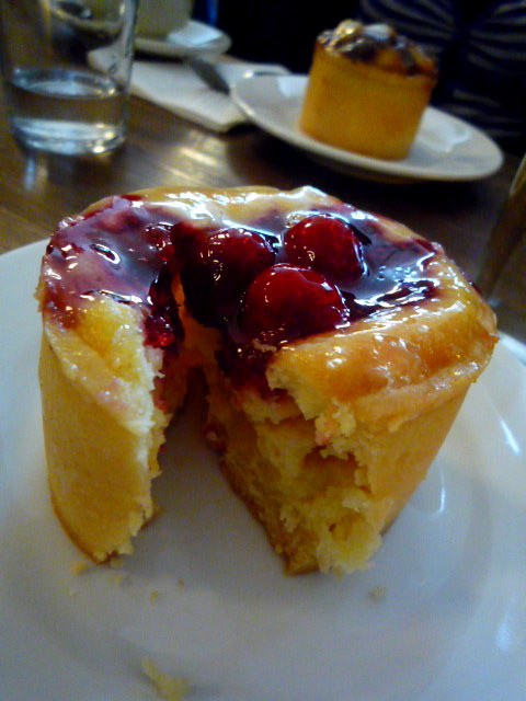 Berry cheesecake; date, honey and macadamia cheesecake