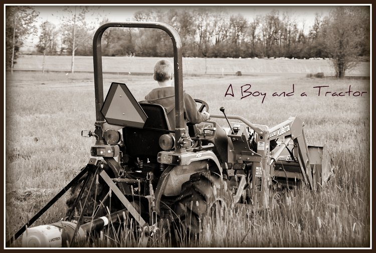 A Boy and a Tractor