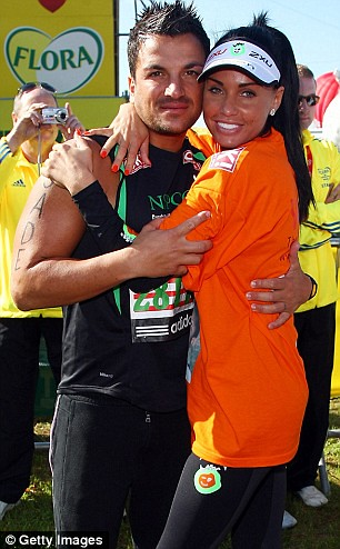 Katie Price and Peter Andre photo