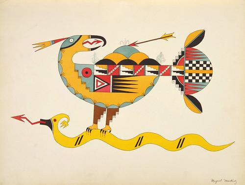 029-Avanyu el pajaro del trueno-acuerla de los artistas indios de Nuevo México 1932