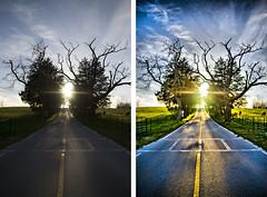 Country Road to Heaven - Before & After (crashmattb) Tags: photoshop arkansas beforeandafter retouching cs3 canoneosdigitalrebelxti sigma1770mmf2845dc redynamix