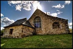 Apparition (Youka !) Tags: sun church clouds soleil brittany bretagne breizh nuages eglise chapelle hdr contrejour d90 locmaria tokina1116