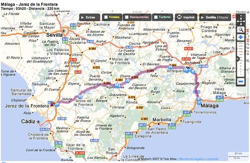 Ruta Málaga-Jerez