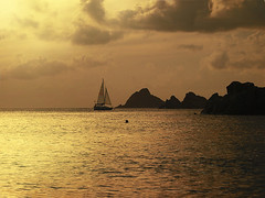 Solitude...The Glory of being alone. (itala2007) Tags: ocean sunset seascape nature clouds islands boat nikon solitude sailing peace sail mywinners nikond80 itala2007 mastersgallery imagesforthelittleprince worldsartgallery
