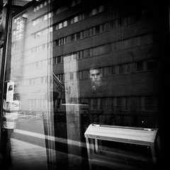 Indefinite (archangelse) Tags: bw man window canon sweden stockholm expression streetphotography soul reflective indefinite thedefiningtouchgroup deftouch