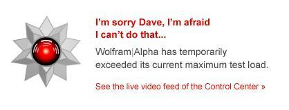 wolfram alpha easter egg3