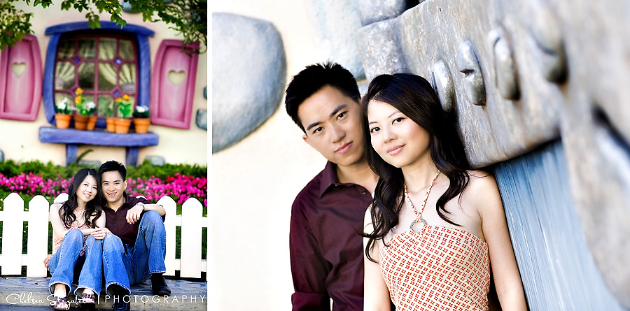 toontown disneyland engagement session