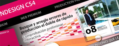 Captura de la web de Adobe InDesign