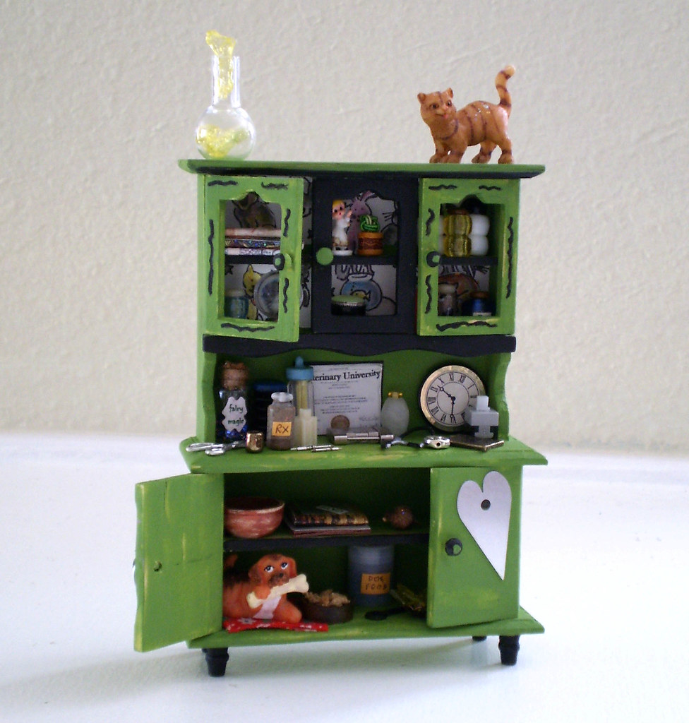 Veterinarian Enchanted and Fantasy Hutch Miniature Dollhouse Scale
