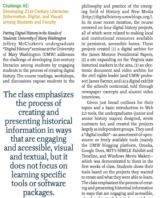 Image of Jeff McClurken's Article in EDUCAUSE Review
