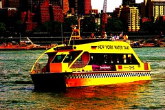 NYC water Taxi (Cblanchard_Photo) Tags: nyc water brooklyn river boat dock sunny southstreet seaport