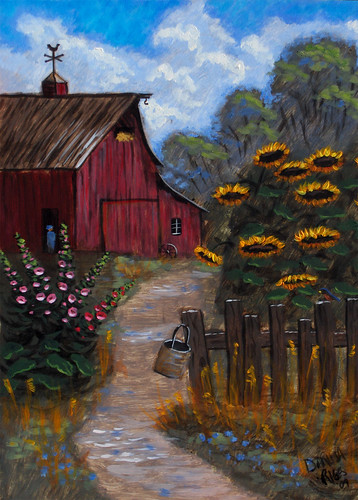 Barn With Flowers