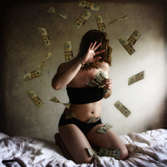 Greed ~explored~ (Miss.Rachel) Tags: selfportrait money 365 greed sevendeadlysins riches