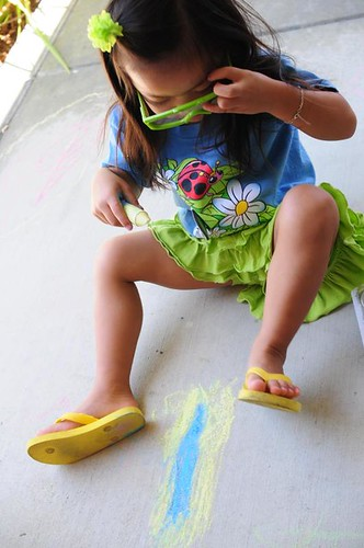 3D chalk -- very cool