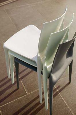 stacking chair design by Bellini