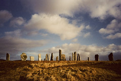 Callanish standing stones (nightfollowsday) Tags: film scotland ancient standingstones manmade callanish monoliths isleoflewis calanais olympusxa4