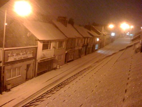 Night snow by markhig