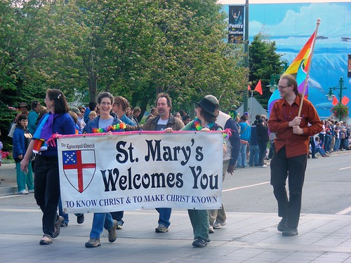 Members of St. Mary's Episcopal Church in 2009 Anchorage Pride march